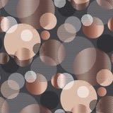 Het abstracte herhaalbare motief van de cirkel geweven meetkunde stock illustratie