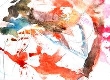 Het abstracte inkt schilderen op grungedocument textuur stock illustratie