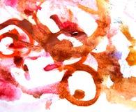 Het abstracte inkt schilderen op grungedocument textuur vector illustratie