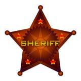 Het abstracte kenteken van de sheriff Royalty-vrije Stock Foto