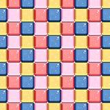 Het abstracte kleuren vierkante patroon met glanst effect Royalty-vrije Stock Afbeelding