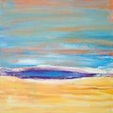Het abstracte kleurrijke acryl schilderen canvas Kan als prentbriefkaar worden gebruikt De textuureenheden van de borstelslag Art stock illustratie