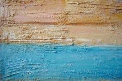Het abstracte kleurrijke acryl schilderen canvas Kan als prentbriefkaar worden gebruikt De textuureenheden van de borstelslag Art stock fotografie