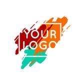 Het abstracte kleurrijke concept van het embleemmalplaatje vector illustratie