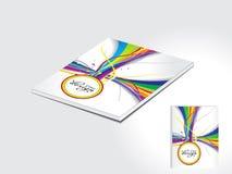 Het abstracte kleurrijke ontwerp van de tijdschriftdekking Stock Afbeeldingen