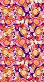 Het abstracte kleurrijke patroon van de blokdruk royalty-vrije stock afbeeldingen