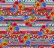 Het abstracte kleurrijke patroon van de blokdruk royalty-vrije stock foto's