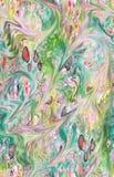 Het abstracte kleurrijke patroon van de blokdruk stock afbeelding