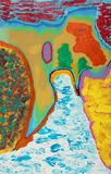 Het abstracte kleurrijke schilderen Royalty-vrije Stock Afbeelding