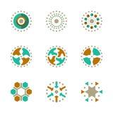 Het abstracte Krachtige Vectorpictogram van de Bedrijfssymbool Global Network Company Innovatie EPS10 Stock Afbeelding