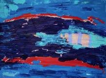 Het abstracte kunst schilderen met acrylkleuren Royalty-vrije Stock Foto's