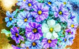 Het abstracte lage poly hoge behang van de contrastkleur Stock Afbeelding