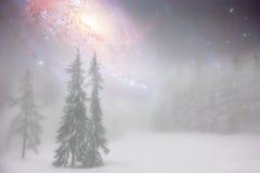 Het abstracte landschap van de de winterfee Stock Foto's