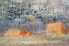 Het abstracte landschap van de olieverf Royalty-vrije Stock Afbeeldingen