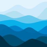 Het abstracte landschap van de wateraard Decoratieve vierkante achtergrond Royalty-vrije Stock Foto