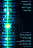 Het abstracte licht van de laserstrook op zwarte achtergrond Royalty-vrije Stock Afbeelding