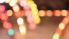 Het abstracte lichten opvlammen stock video
