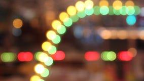 Het abstracte lichten opvlammen stock videobeelden