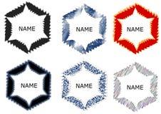 Het abstracte malplaatje van het cirkelembleem met verschillende patronen stock illustratie