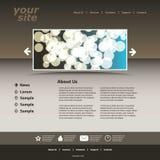 Het abstracte malplaatje van het bedrijfswebsiteontwerp Royalty-vrije Stock Foto's