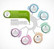 Het abstracte malplaatje van optiesinfographics Infographics voor bedrijfspresentaties of informatiebanner Stock Afbeelding
