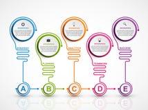 Het abstracte malplaatje van optiesinfographics Infographics voor bedrijfspresentaties of informatiebanner royalty-vrije illustratie
