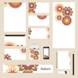 Het abstracte Mandala Geometric Brochure Flyer-vectormalplaatje van de ontwerplay-out in A4 grootte, verticale, vrije doopvonten  Stock Foto