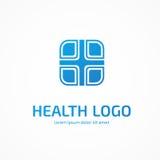 Het abstracte medische vectormalplaatje van het embleemontwerp Stock Fotografie