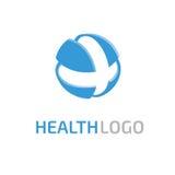 Het abstracte medische vectormalplaatje van het embleemontwerp Royalty-vrije Stock Foto's