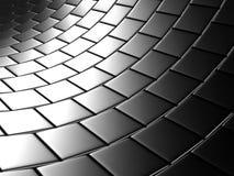 Het abstracte Metaalzilver blokkeert Muurachtergrond Stock Afbeelding
