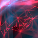 Het abstracte moderne rode het gloeien draad 3d teruggeven als achtergrond Royalty-vrije Stock Foto