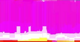 Het abstracte multiglitch van het kleuren realistische scherm trillen, analoog uitstekend TV-signaal met slechte interferentie en stock videobeelden