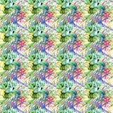 Het abstracte naadloze grunge stedelijke patroon met pijl, lijnen, graffiti, geeft geweven elementen, inkt gestalte Heldere achte Stock Foto's