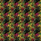 Het abstracte naadloze grunge stedelijke patroon met pijl, lijnen, graffiti, geeft geweven elementen, inkt gestalte Heldere achte Royalty-vrije Stock Foto