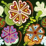 Het abstracte Naadloze Ontwerp van de flora vector illustratie