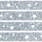 Het abstracte naadloze patroon met zilver schittert textuur Stock Afbeelding
