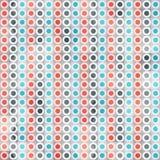 Het abstracte naadloze patroon van cirkellijnen Stock Afbeelding