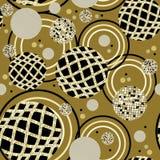 Het abstracte naadloze patroon van Cirkels vector illustratie