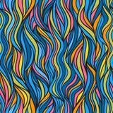 Het abstracte naadloze patroon van de krabbelgolf royalty-vrije stock afbeeldingen