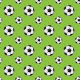 Het abstracte naadloze patroon van de voetbalbal Stock Afbeelding