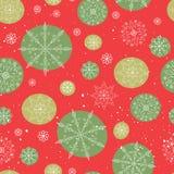 Het abstracte naadloze patroon van de winter Royalty-vrije Stock Foto