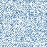 Het abstracte Naadloze Patroon van het Behang Stock Foto