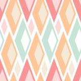 Het abstracte naadloze patroon van pastelkleurdriehoeken op wit royalty-vrije illustratie