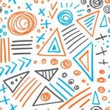 Het abstracte naadloze patroon van tellers kleurrijke lijnen Stock Foto
