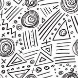 Het abstracte naadloze patroon van tellers zwarte lijnen Stock Afbeeldingen