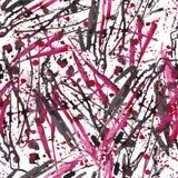 Het abstracte Naadloze Vectorpatroon van Inktvlekken Achtergrond In modernistic Royalty-vrije Stock Afbeeldingen