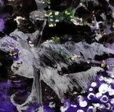 Het abstracte Nachtonweer Schilderen Vectoreps 10 Beeld Royalty-vrije Stock Afbeeldingen
