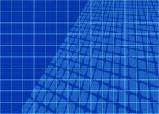 Het abstracte Net van Blauwdrukken Royalty-vrije Stock Foto