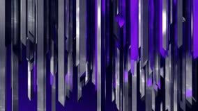 Het abstracte net van de de kolommysticus van roestvrij staal industriële verticale kristallen vector illustratie