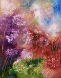Het abstracte olieverfschilderij van de kleurenplons royalty-vrije stock fotografie